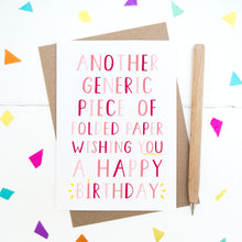 Load image into Gallery viewer, Generic Birthday Card