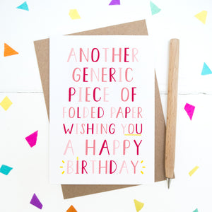Generic Birthday Card