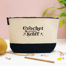 Load image into Gallery viewer, Crochet Stuff Storage Pouch