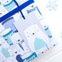 Load image into Gallery viewer, Arctic Fox Gift Wrap