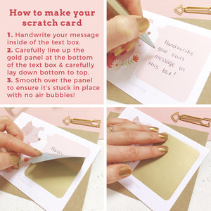 How to make the cat scratch card