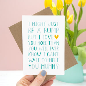 From 'The Bump' Mummy Card