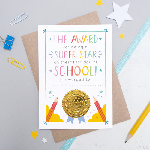 First Day of School Certificate Card