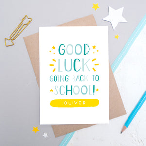 Personalised Back To School Card