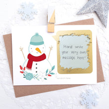 Load image into Gallery viewer, Create your very own personalised Christmas scratch card! Simply write your message under the scratch panel and watch them scratch off and reveal their gift!