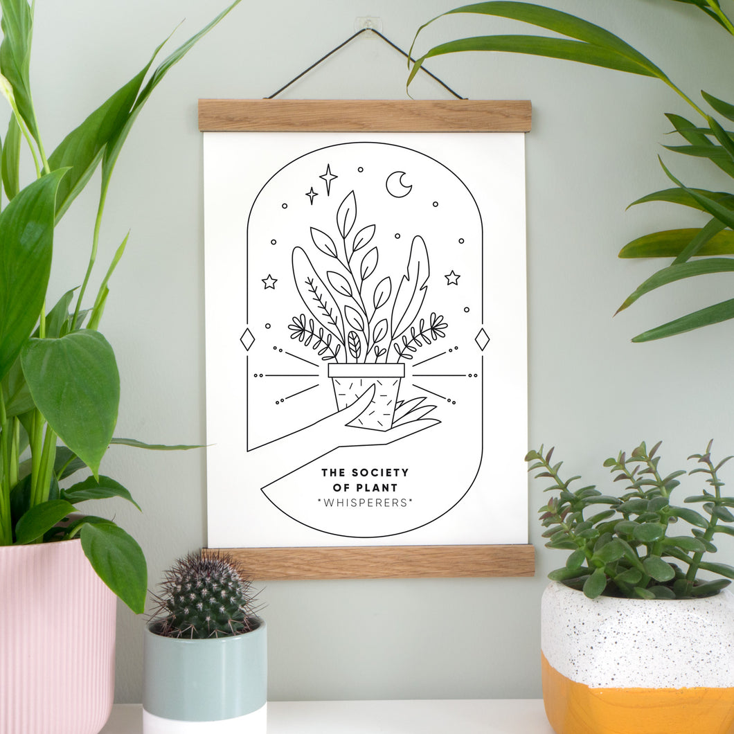 Joanne Hawker Society Of Plant Whispers Print In Black and White.