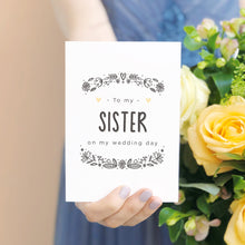 Load image into Gallery viewer, To My Brother or Sister Wedding Day Card