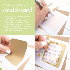 How to make your scratch card in 3 easy steps.
