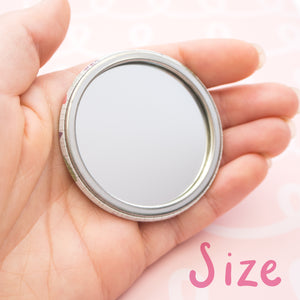 The size of each pocket mirror