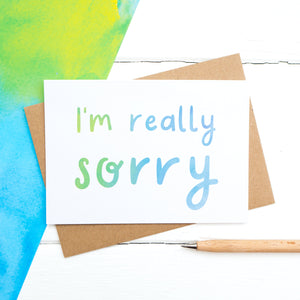 I'm really sorry - a simple but bright sympathy card for sending your condolences