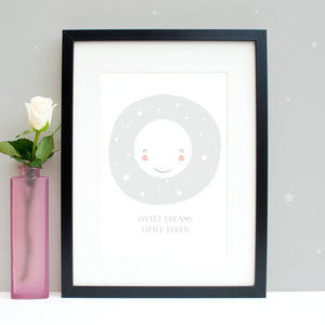Personalised sweet dreams nursery print