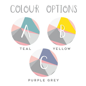 Colour options for the initial, monogram pocket mirrors
