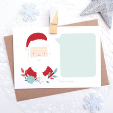 Load image into Gallery viewer, Personalised christmas message scratch and reveal card featuring father christmas