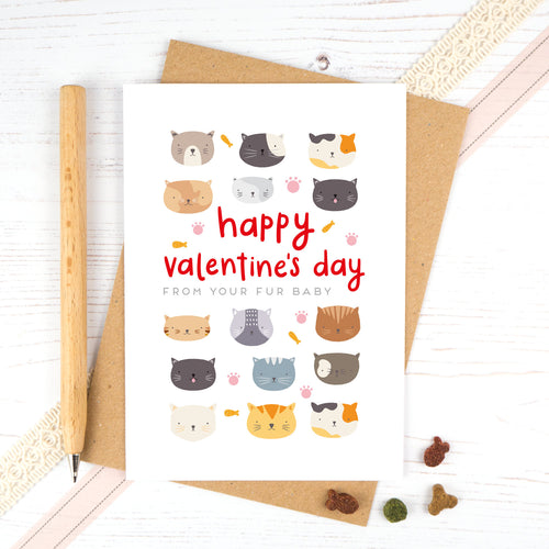 A valentines card from the cat. Happy Valentines day from your fur baby.