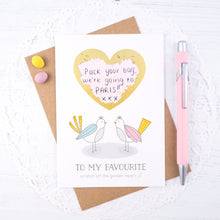 Load image into Gallery viewer, To my favourite scratch card - a love birds card for hiding a secret message to your favourite person. Ideal for valentines or anniversaries.