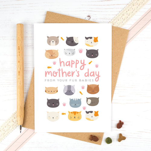 Mothers Day card from the cats. Happy mothers day from your fur babies