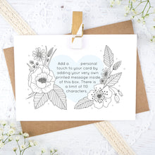 Load image into Gallery viewer, An example of the printed text you can have on the personalised wedding scratch card