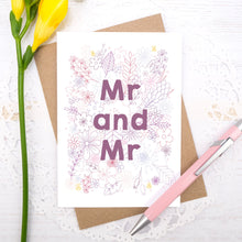 Load image into Gallery viewer, Mr and Mr happy couple wedding, civil partnership or engagement card