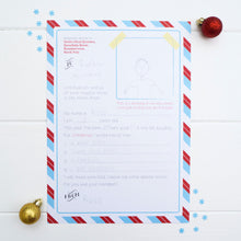 A letter to Father Christmas with a list of desired Christmas gifts.