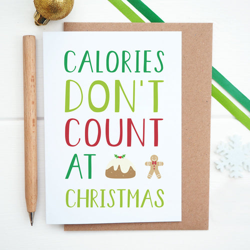 Calories don't count at Christmas card