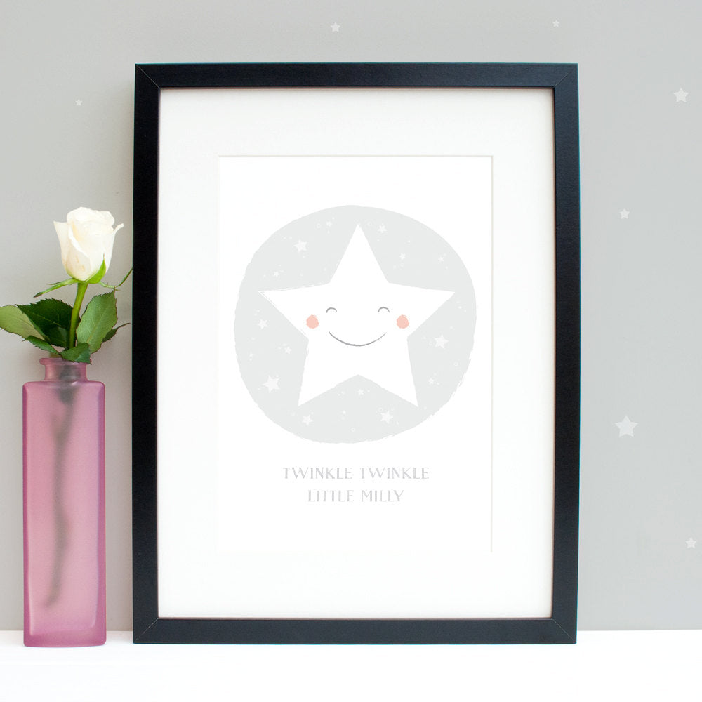 Personalised Twinkle Twinkle little star nursery print