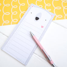 Load image into Gallery viewer, Polar bear to do list, shopping list notepad