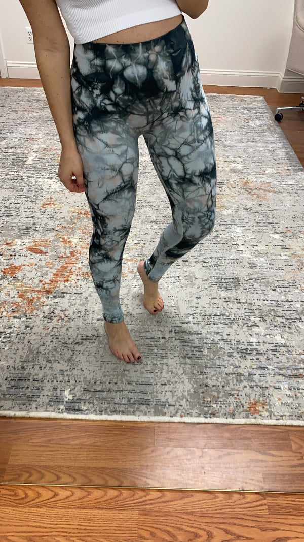 Meridian Seamless Leggings- Charcoal Combo