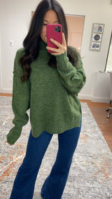Snowfall Sweater- Olive