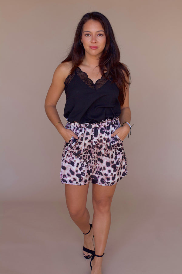 Know Your Worth Leopard Shorts- Mauve