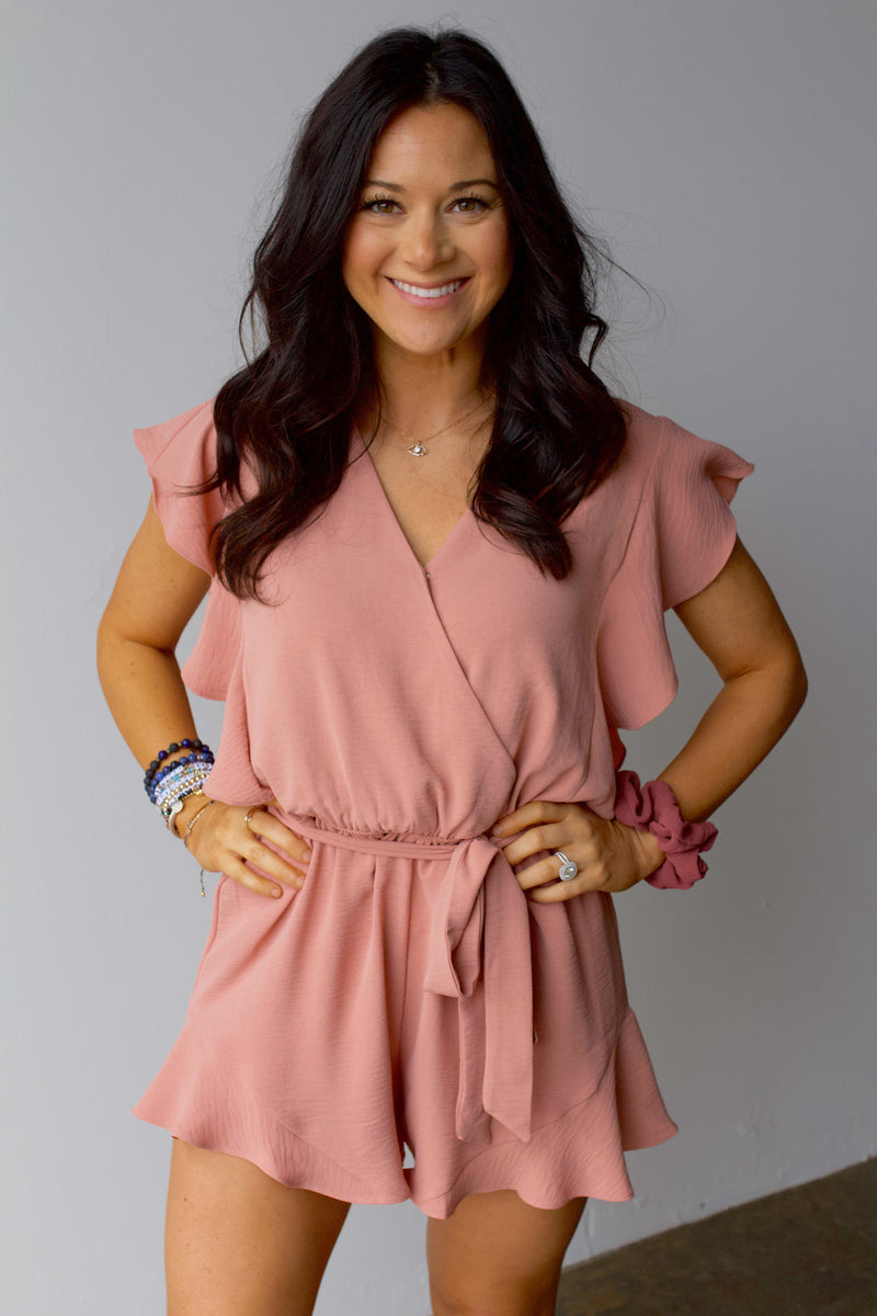 Intentions Romper- Mauve