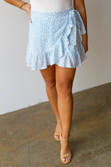 Dance With Me Wrap Skirt- Powder Blue