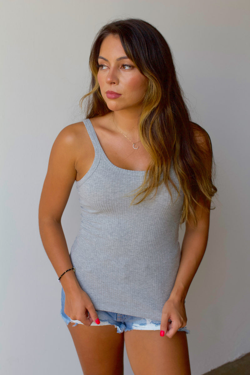 Good Things Cami- Heather Grey