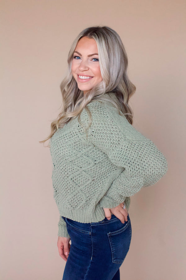 Kennedy Chenille Sweater- Sage