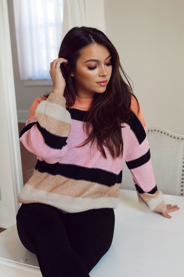 Who Says Striped Sweater- Multi