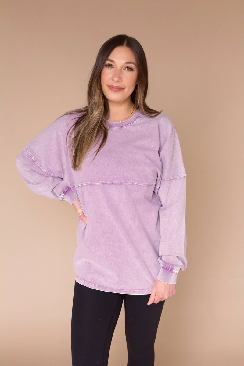 Meet Your Match Pullover- Lavender