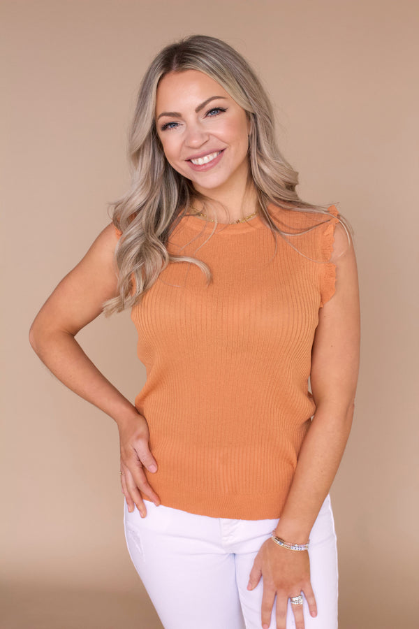 Reyna Knit Tank- Ginger