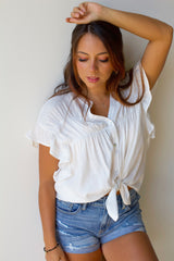 Lady Like Top- Off White