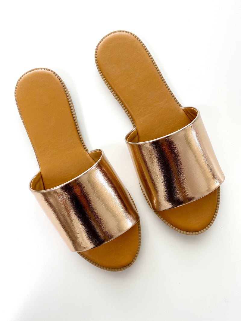 No Filter Slides- Rose Gold