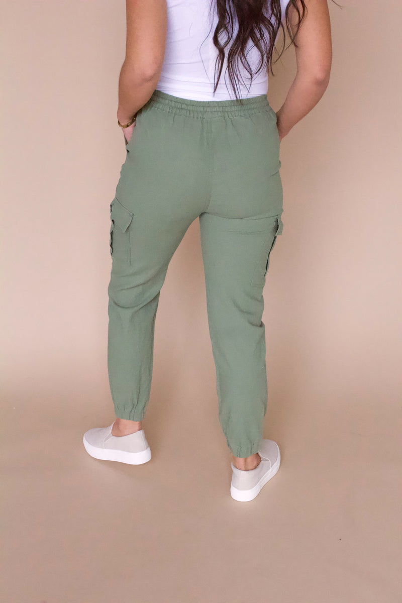 Always Ready Cargo Joggers- Olive