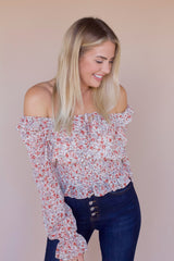 All In Floral Blouse- Cream/Multi