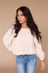 Uncommon Popcorn Sweater- Natural
