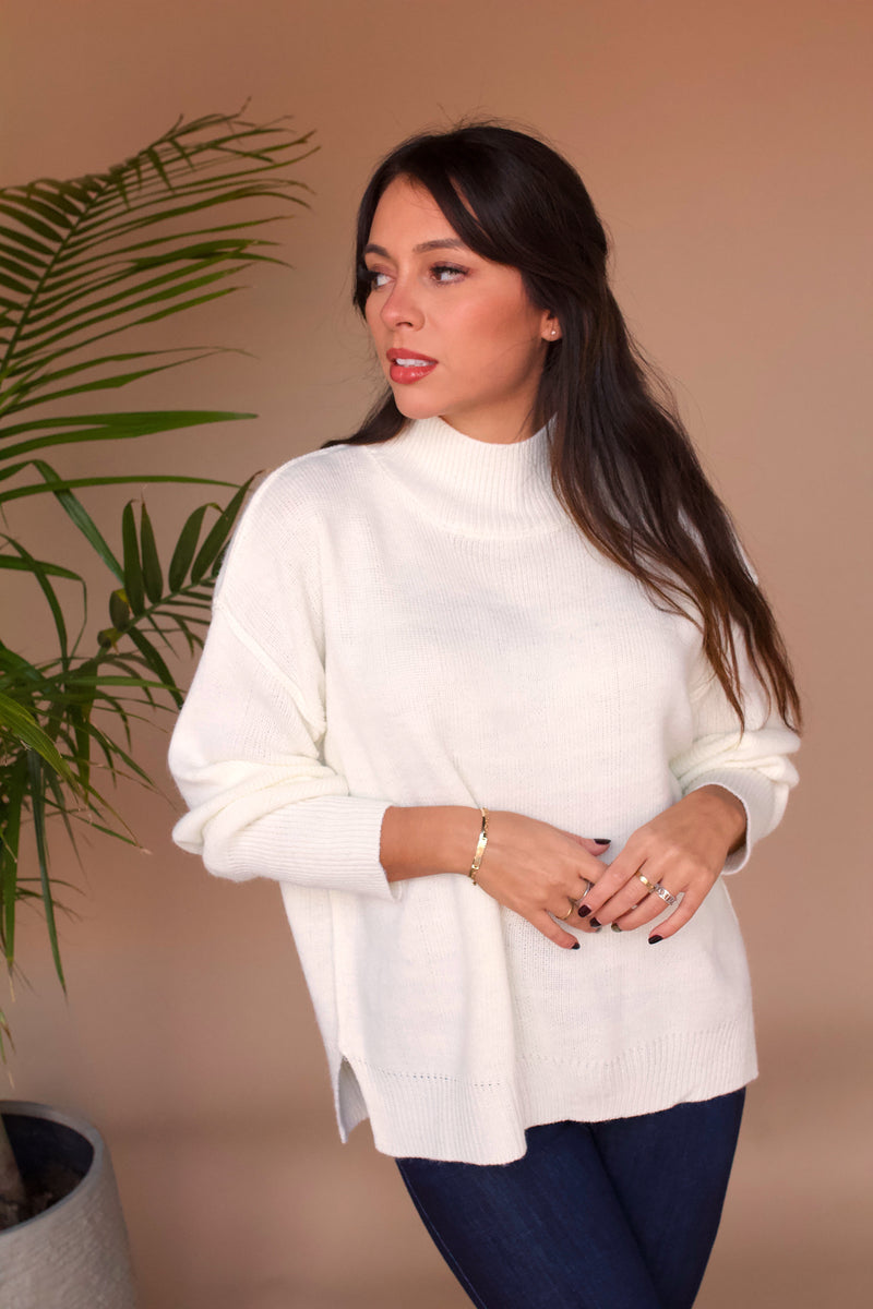 Snowfall Sweater- Ivory