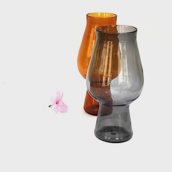 Handblown Drinking Glass- Perfect for large Iced Drinks/Juices/ Beer Tumblers- Color Wild Amber - Factoh