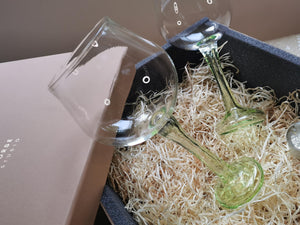 Rustic Horse-   Aurora Green  Wine Glasses Festive Gift pack