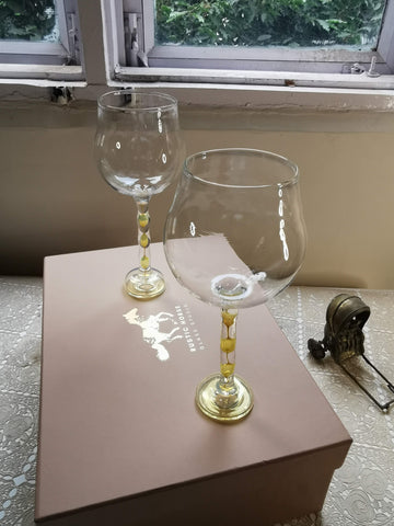 Rustic Horse-  Muscov Gold  Wine Glasses Festive Gift pack