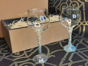 Festive Pack 2x Vetera Gold  Wine Glasses Gift pack
