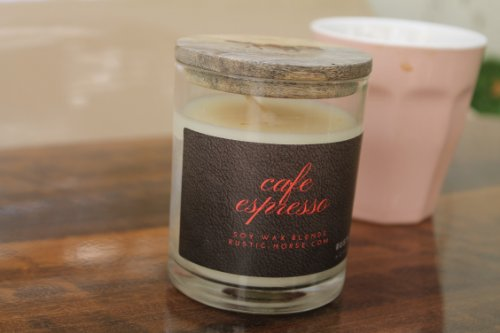 Cafe Espresso Soy Candle - Warm  Aroma Candle . Tonka Coffee Beans Roast - Factoh