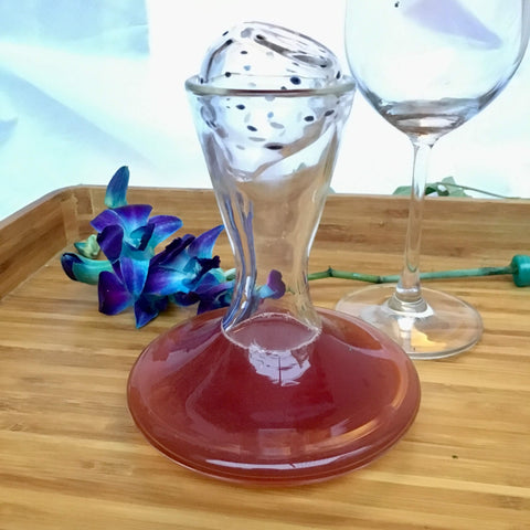 100% Hand Blown Glass Decanter, Red Wine Carafe, Wine Gift, Wine Accessories - Factoh