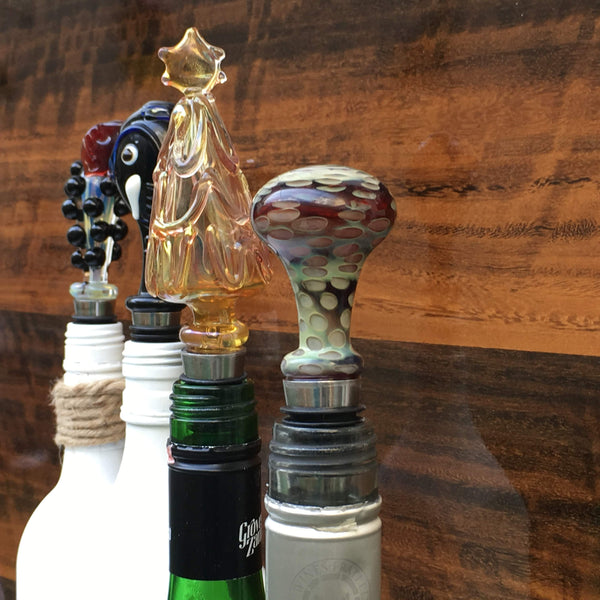 Wine Stoppers - Handblown Glass Very Unique - Factoh