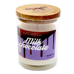 Milk Chocolate Soy Candle, Soy Candles Handmade, Scented Candle Jar.